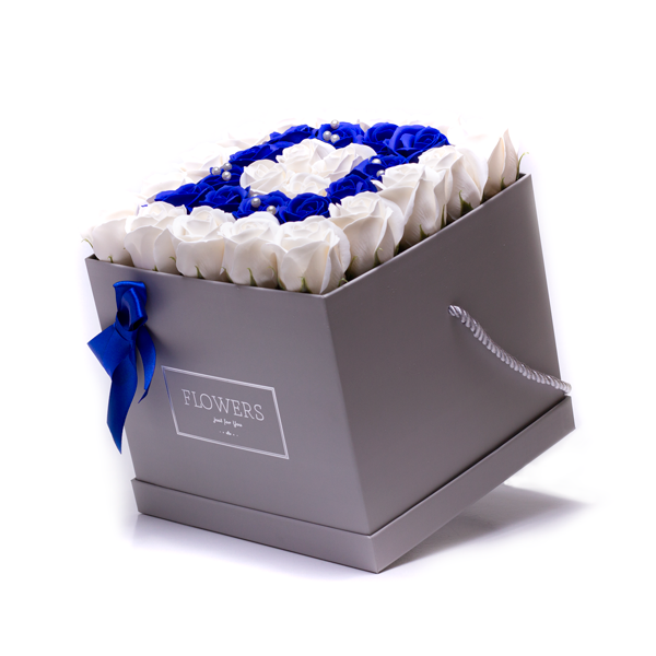 Flower Box - Light and Dark Blue