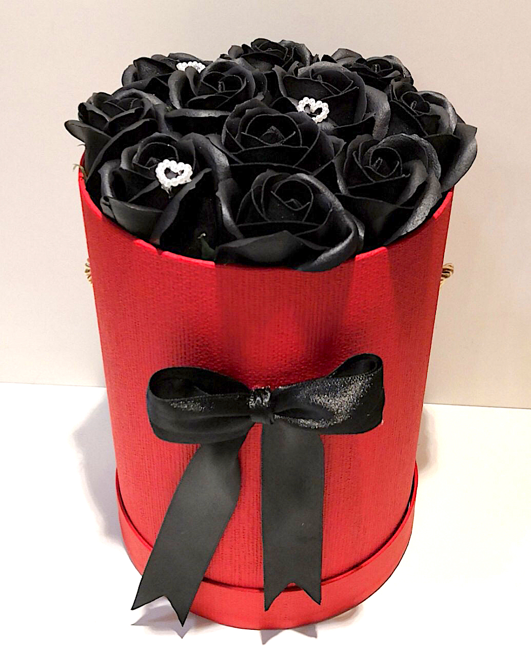 Flower Box - Black roses